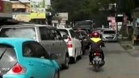 Kemacetan terjadi di beberapa titik di kawasan wisata Lembang. (Liputan 6 SCTV)
