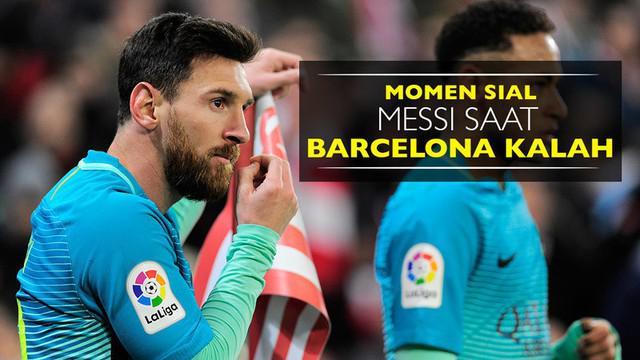 Video momen sial Lionel Messi saat Barcelona kalah dari Athletic Bilbao di Copa del Rey, Kamis (6/1/2017).