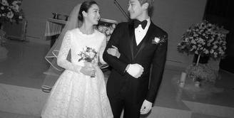 Ingat soal momen pernikahan Rain dan Kim Tae Hee pada awal tahun 2017 lalu? Momen spesial tersebut cukup membuat heboh para penggemar K-Pop.  (Doc. Soompi)