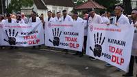 Ratusan Dokter di Medan Unjuk Rasa Tolak DLP. Foto: Reza Perdana/Liputan6.com