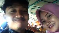 Mutiara Tri Murni bersama sang pacar, Eko, berlibur ke Danau Toba bersamaan dengan hari karamnya KM Sinar Bangun. (Foto: Dokumentasi keluarga via WhatsApp)