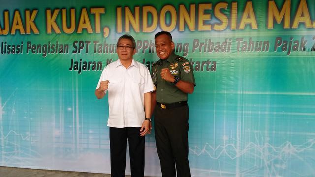 Ditjen Pajak Sosialisasikan Pengisian SPT ke Perwira TNI