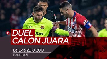 Berita video data dan fakta antara Barcelona dan Atletico Madrid yang akan berlaga Minggu (7/4/2019) di Camp Nou, Barcelona.