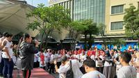 Sejumlah dokter senam dengan ODA di Tangerang.(Pramita/Liputan6.com)