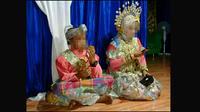Resepsi pernikahan bocah baru lulus SD dengan Gadis SMK (Fauzan/Liputan6.com)