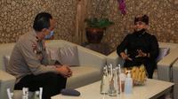 Bupati Banyuwangi, Abdullah Azwar Anas menerima kunjungan Direktur Pengamanan Obyek Vital Korps Samapta Bhayangkara Badan Pemeliharaan Keamanan Mabes Polri, Brigjen Pol Hari Prasodjo.