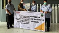 Yamaha menyumbangkan tabung oksigen siap pakai kepada Pemerintah Provinsi Jawa Barat. (Dok Yamaha)