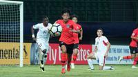 Timnas Korea Selatan U-19 menang 3-1 atas Yordania pada laga kedua Grup C Piala AFC U-19, di Stadion Patriot Candrabaga, Senin (22/10/2018). (dok. AFC)