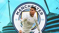 Manchester City - Ilustrasi Cristiano Ronaldo (Bola.com/Adreanus Titus)