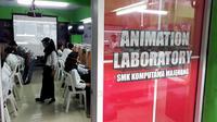 Kementerian Perindustrian menggelar Diklat Pembuatan Gerak Animasi 3D di SMK Komputama, Majenang, Cilacap, Jawa Tengah. (Foto: Liputan6.com/Muhamad Ridlo)