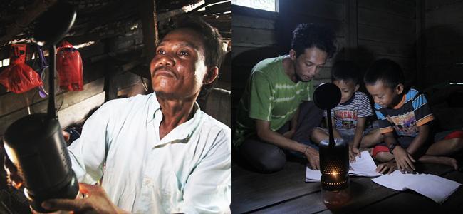Lampu Lumir K bisa menyala dengan bahan bakar berupa minyak goreng/copyright CSR Teranghulu/Irfan Meidianto/IYAACOM