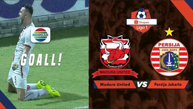 Berita video momen gol tandukan striker Persija Jakarta, Marko Simic, ke gawang Madura United dalam lanjutan Shopee Liga 1 2019, Jumat (16/8/2019).