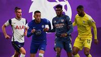 Premier League - Gareth Bale, Hakim Ziyech, Thomas Partey, Ruben Loftus-Cheek (Bola.com/Adreanus Titus)