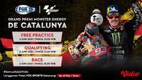 Live Streaming MotoGP Pekan ini di Kanal FOX Sports 3 Eksklusif Melalui Vidio. (Sumber : dok. vidio.com)
