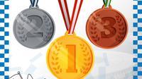 Olimpiade 2020 - Ilustrasi Medali (Bola.com/Adreanus Titus)