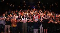 Jalin keakraban, Menaker dan Serikat Pekerja nobar film Wiro Sableng.