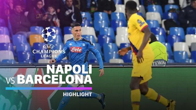 Berita video highlights leg I babak 16 Besar Liga Champions 2019-2020 antara Napoli melawan Barcelona yang berakhir dengan skor 1-1, Selasa (25/2/2020).
