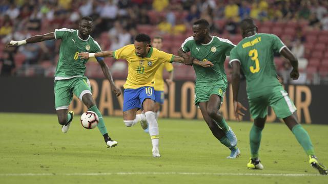 Brasil Bermain Imbang 1-1 Atas Senegal di Singapura
