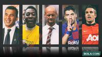 Kolase - Pemain Ruud Gullit, Pele, Lombardo, Suarez, Persie (Bola.com/Adreanus Titus)