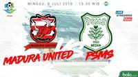 Liga 1 2018 Madura United Vs PSMS Medan (Bola.com/Adreanus Titus)