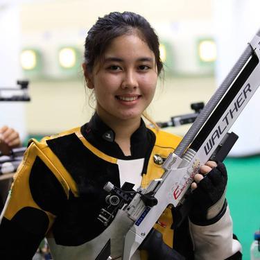 7 Potret Vidya Rafika, Atlet Menembak Wanita yang Lolos Olympiade Tokyo 2020
