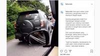 Nekat Pakai Strobo, Pengemudi Mobil Ini Kena Semprot di Jalan Raya (Ist)
