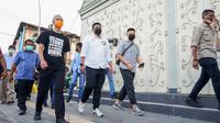 Ganjar Pranowo dan Bobby Nasution berkeliling kawasan Kota Tua Medan
