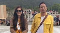 Ringgo Agus Rahman dan Sabai Morscheck mengajak anaknya, Bjorka, berlibur ke Hong Kong. (Liputan6.com/Dinny Mutiah)