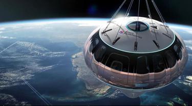 Ilustrasi gambar balon udara.