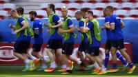 Tim nasional Islandia. (AFP/Tobias Schwarz)
