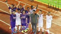 Eka Ramdani hadir di pertemuan Ciamis sebagai bentuk dukungan moral terhadap keinginan klub Divisi Utama yang ingin disejajarkan dengan klub ISL dan meminta liga kembali digelar. (Bola.com/Robby Firly)