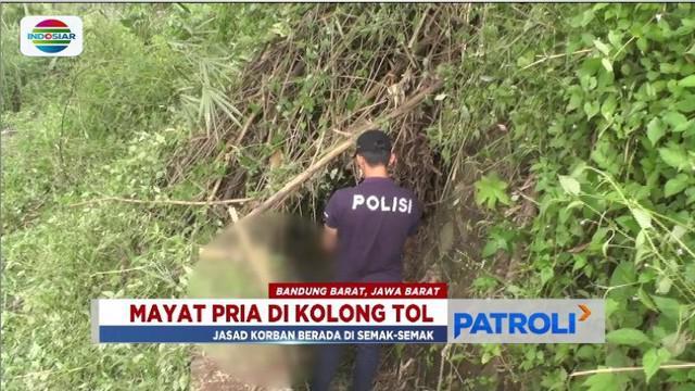 Pencari rumput temukan jasad pria tanpa identitas di kolong Tol Purbaleunyi kilometer 109-110.