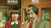 Dalam poster film My Stupid Boss garapan sutradara Upi, Reza Rahadian dan Bunga Citra Lestari tampil berbeda dengan biasanya.