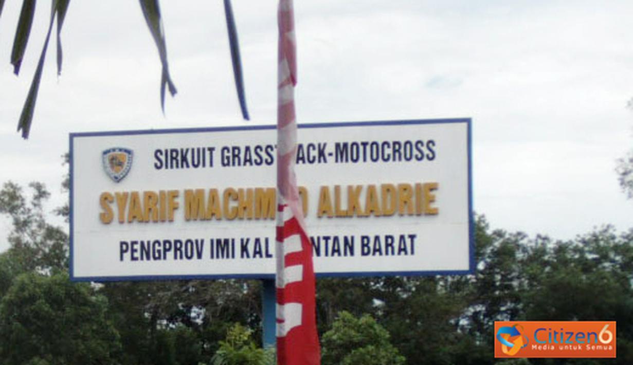 Citizen6, Pontianak: Lokasi sirkuit grastrack motor cross Syarief Mahmud Alkadrie, Pontianak yang diamankan Pemprov Kalbar. (Pengirim: Devi Lahendra)