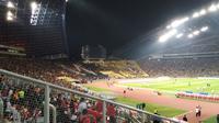 Suasana stadion Shah Alam jelang duel Malaysia vs Indonesia (Liputan6.com/Cakrayuri Nuralam)