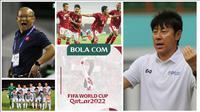 Timnas Vietnam Vs Timnas Indonesia, duel Park Hang-seo Vs Shin Tae-yong. (Photos: Bola.com, PSSI/Grafis: Wiwig Prayugi)