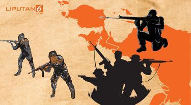 Banner Infografis Penembakan 31 Pekerja di Papua