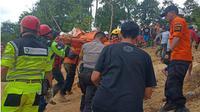 Detik-detik tambang emas di Bolmong runtuh. (Liputan6.com/Yoseph Ikanubun)