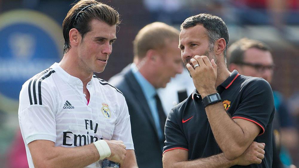 Gareth Bale dan Ryan Giggs (AFP)