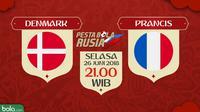 Piala Dunia 2018 Denmark Vs Prancis (Bola.com/Adreanus Titus)