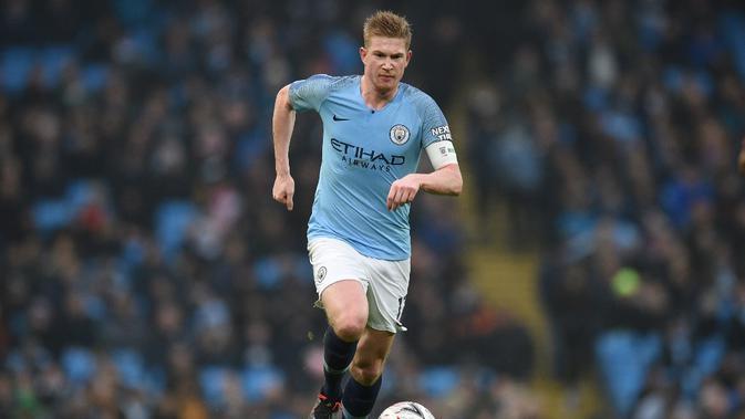 Kevin De Bruyne dijagokan jadi kapten baru Manchester City. (AFP/Oli Scarff)