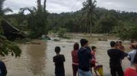 Sebanyak 4 kecamatan terdampak banjir akibat meluapnya 3 sungai pada Minggu, 15 Agustus 2021 (Istimewa)