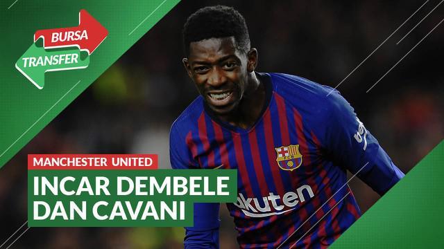 Berita video bursa transfer kali ini membahas Manchester United yang mengincar Ousmane Dembele dan Edinson Cavani bila gagal mendatangkan Jadon Sanco.