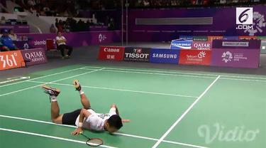 All Indonesia final batal tercipta pada tunggal putra bulu tangkis perorangan Asian Games 2018. Ini setelah Anthony Sinisuka Ginting kalah dari pemain Chinese Taipei, Chou Tien Chen.