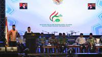 Wapres Ma'ruf Amin menghadiri acara Maulid dan Tasyakur Hari Lahir Ikatan Pelajar Nahdlatul Ulama (IPNU) Ke-66 di Jakarta Selatan, Minggu (23/2/2020). (Merdeka.com)