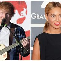 Ed Sheeran dan Beyonce (AFP/Bintang.com)