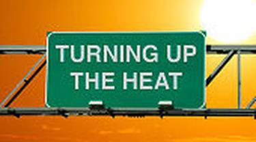 ilustrasi gelombang panas tinggi.