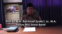 Ketua MUI Provinsi Jawa Barat Rahmat Syafei.