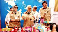 Kepala BPOM Penny K Lukito menyampaikan, tindak lanjut temuan pangan yang tak layak konsumsi jelang Natal 2019 dan Tahun Baru 2020 di Kantor BPOM, Jakarta Pusat pada Senin (23/12/2019). (Liputan6.com/Fitri Haryanti Harsono)