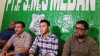 PT Pesemes Medan selaku pemilik/pemegang hak eksklusif atas logo dan merek PSMS melakukan somasi terhadap manajemen klub saat ini di bawah PT Kinantan Medan Indonesia. (Bola.com/Zulfirdaus Harahap)